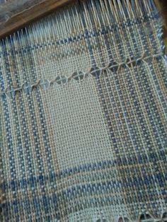 Weaving on Ashford knitter's loom