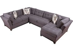 Rooms to go Cindy crawford metropolis slate 3 pc. sectional $1988