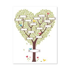 Sweetly Nested | family tree printable - digital download template from SU