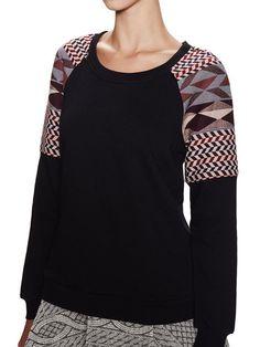 Jacquard Shoulder Sweatshirt by POPPYLARK