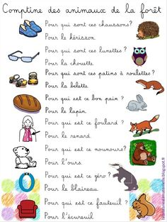 Nursery Rhyme of the forest (LaCatalane version) - ~Kinderlieder~ - Makaron French Poems, Rare Albino Animals, Good Quotes For Instagram, French Classroom, Animal Facts, Teaching French, Kids Songs, Forest Animals, Learn French