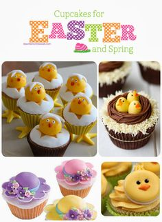 See all the Easter and Spring themed cupcakes. Recipes included (except for See all the Easter and Spring themed cupcakes. Recipes included (except for Spring Cupcakes, Easter Cupcakes, Themed Cupcakes, Fun Cupcakes, Cupcake Cakes, Cupcake Ideas, Easter Cake, Kids Valentines Day Treats, Easter Treats