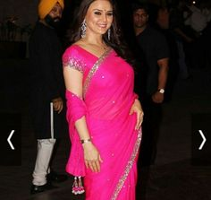 Preity Zinta  #Beauty in Pink   She worn a Pink beautiful Saree designed by Manish Malhotra. She grab the attention of so many people. Truly said Pretty in #Pink