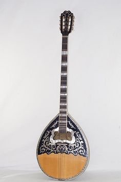 Highly inlaid and hand crafted Bouzouki * Indian Musical Instruments, Music Instruments, Hama Beads Minecraft, Perler Beads, Homemade Instruments, Gear Art, Piano Teaching, Music Wall, Mandolin