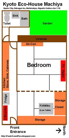 Floorplan for a typical 3dk apartment d means dining k means traditional japanese house floor plan google search malvernweather Choice Image