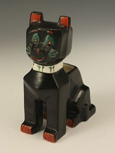 louis wain ceramics | Louis Wain: Ceramic Lucky Black Cat. (amphora ... | ceramic and porce ...