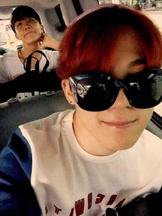 "BTS Tweet - J-hope & Jimin (selca ) otw to airport to go Sydney, Australia for TRB World Tour (2nd half) -- 다녀올게요 미소미소 #JIMIN -- [TRANS] ""We'll go and come back safely smile smile #JIMIN"" --- cr: ARMYBASESUBS ‏@BTS_ABS"