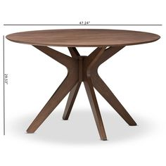 Angled, flared legs form the pedestal base of this Baxton Studio Monte Round Dining Table , and lend mid-mod appeal. This round dining table.