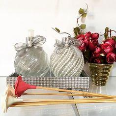 Lindo kit mosaico de lavabo todo prata . Um luxo#difusor…
