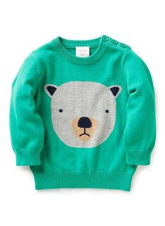 Baby Clothes Knitwear & Jumpers | Bb Animal Intarsia Sweater | Seed Heritage