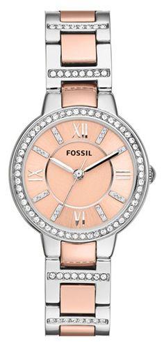 Fossil crystal bezel bracelet watch  http://rstyle.me/n/ff8sdpdpe