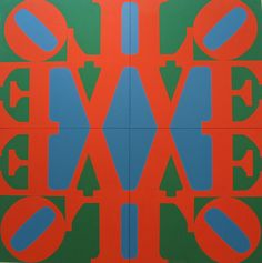 ROBERT INDIANA, THE GREAT LOVE, 1966. OIL ON CANVAS.