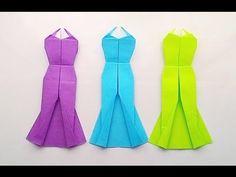 Origami Long dress...พับกระดาษ ชุดราตรี...