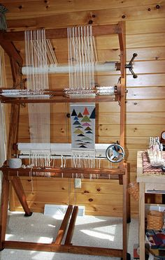 36 inch Fireside cantilever tapestry loom of Dawn McFall