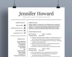 Resume  Cv Template Template And Professional Resume Template