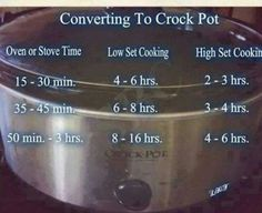 Crock Pot Conversion
