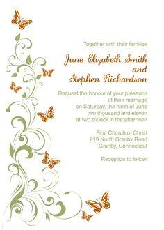 Templates For Wedding Invitations