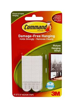 Command Medium Picture Hanging Strips, 4 pairs