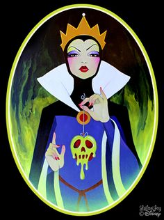 Evil Most Fair by Leilani Joy for Disney Wonderground Gallery - Evil Queen - Snow White and the Seven Dwarfs Disney Animation, Disney Pixar, Anime Disney, Walt Disney, Disney Fan Art, Disney And Dreamworks, Disney Love, Disney Characters, Disney Villains Art