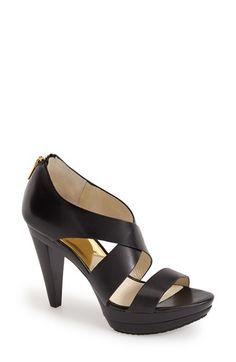 MICHAEL Michael Kors 'Elena' Leather Platform Sandal (Women) available at #Nordstrom