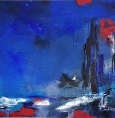 midnight ocean acrylic on canvas 75 cm x 75 cm  2014
