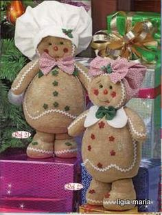 makes me happy Christmas Sewing, Christmas Candy, Christmas Projects, Handmade Christmas, Vintage Christmas, Christmas Time, Christmas Ornaments, Gingerbread Christmas Decor, Gingerbread Crafts