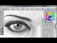 How to Draw & Paint Eyes - A Digital Painting Tutorial using Corel Painter & Wacom tablet