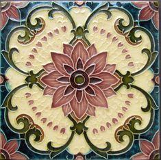 Charming Deco Artistic Tile Ceramic Kitchen Back Splash Motifs Art Nouveau, Azulejos Art Nouveau, Design Art Nouveau, Art Design, Tile Design, Decorative Tile Backsplash, Mosaic Tiles, Backsplash Tile, Tiling