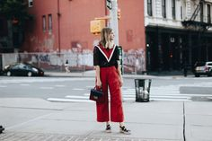Red and Black New York Outfit | LA Fashion Blog | www.takeaim.nu