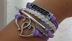 Purple bracelets. I like the bottom one, depending how thick it is.