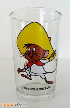 Verre moutarde ... SPEEDY GONZALES (1984). La souris la plus rapide de tout le Mexique ... www.muluBrok.fr