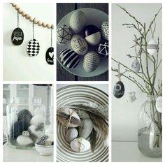 Feestdagen | Paadecoratie zwart wit | DIY Pasen | Lente | Woonblog Flow Design