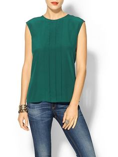 Tinley Road Short Sleeve Silk Blouse   Piperlime