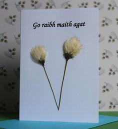 Items similar to 3 Irish Language 'Thank You' Cards. Each made with Connemara wild flowers, carefully picked and pressed individually. on Etsy Irish Language, Handmade Cards, Handmade Gifts, Connemara, Thank You Cards, Wild Flowers, Your Cards, Hair Accessories, Unique Jewelry