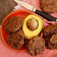 Double Chocolate Avocado Cookies made these today! Subitude coconut oil instead of butter. Yummy!