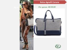 Selena Gomez foi clicada mega estilosa com macacão estampado. Olhem como a Bolsa Agnelli Coruna combina perfeitamente com esse look! Corram em uma loja Bagaggio e peguem a sua!