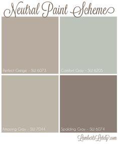 Farmhouse Paint Colors Ideas – My Life Spot Best Interior Paint, Interior Paint Colors, Paint Colors For Home, House Colors, Interior Painting, Gray Interior, Interior Design, Neutral Paint Colors, Paint Color Schemes