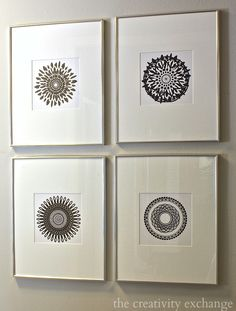 Free Printable Collection of Modern Black and White Prints from The Creativity Exchange