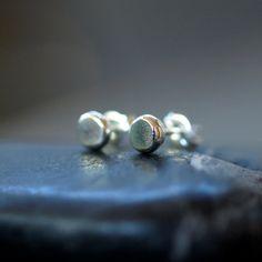Sterling Silver Organic Dot Stud Earrings Sweet Everyday Posts Handmade Jewelry on Etsy, $29.00
