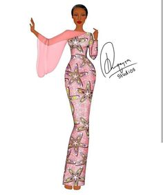 Latest African Fashion Dresses, African Dresses For Women, African Print Fashion, African Attire, Dress Illustration, Fashion Illustration Dresses, African Fashion Traditional, Sew, Illustrations