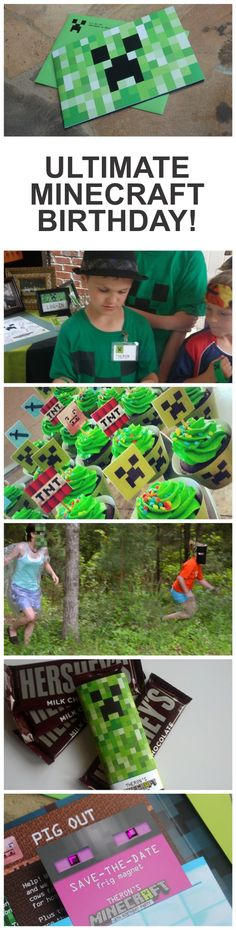 Minecraft birthday party ideas @Mark Van Der Voort Van Der Voort Susan Coleman for the boys? haha