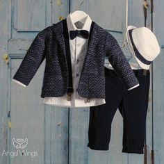 Βαπτιστικό Σύνολο για Αγόρια Blue Navy | Angel Wings 094 Boys Wedding Suits, Boy Christening, Boy Outfits, Suit Jacket, Party, Jackets, Clothes, Ideas, Fashion