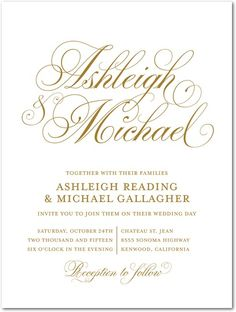 Soft Swirling - Engraving Wedding Invitations in ENG Gold or ENG Silver Invitation Fonts, Gold Invitations, Custom Wedding Invitations, Wedding Stationary, Invites, Invitation Examples, Shower Invitations, Our Wedding, Dream Wedding