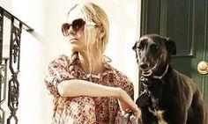 laura bailey and dog