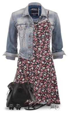 Dress and Denim by jackie22 on Polyvore featuring polyvore, fashion, style, Dorothy Perkins, maurices, Melissa, Tory Burch, Hring eftir hring and clothing