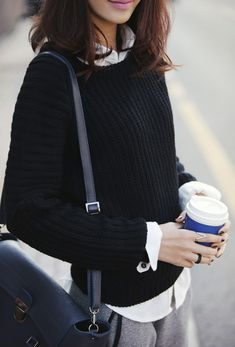 Sometimes a girl needs a little caffeine kick! #FallStyle