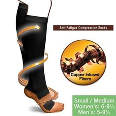 Cheap copper anti-fatigue compression socks, Buy Quality men socks directly from China anti-fatigue compression socks Suppliers: High Quality Miracle Copper Compression Socks Unisex Anti-Fatigue Compression Socks Foot Pain Relief Soft Magic Socks 2018 Varicose Vein Remedy, Varicose Veins, Knee High Stockings, Stockings Legs, Nylons, Copper Socks, Diabetes, Achy Legs, Scholl Velvet Smooth