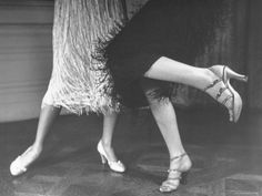 Charleston Dancers in Fringed Skirts Wearing Rhinestone Trimmed Pumps and Strapped Sandals Photographic Print by Nina Leen - Belle Epoque, The Great Gatsby, Roaring Twenties, The Twenties, The 20s, Charleston Dancer, 1920s Aesthetic, Aesthetic Collage, Aesthetic Fashion