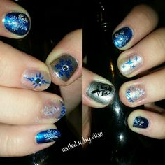 Winter mani I did for my daughter