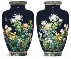 Pair of cloisonne vases. Maker not known. Christies 2012.
